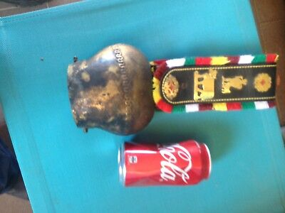 Vintage Bell With Brass Animal Figures Collectable Bell
