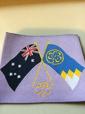 Girl Guides / Scouts World and  Australian flags crossed