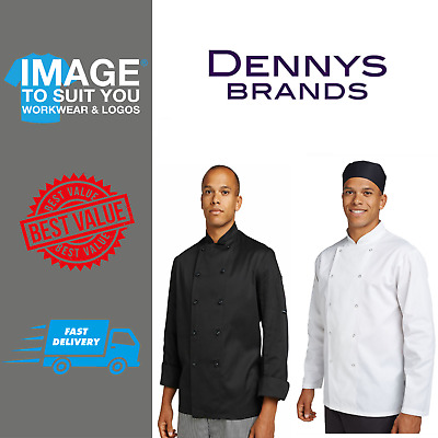 Dennys Long Sleeve Budget Chefs Jacket Catering Work Wear DD70