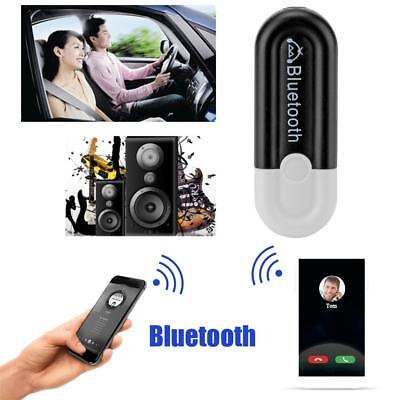 3.5mm AUX To USB Wireless Bluetooth Audio Stereo Home Car Music Receiver Adapter