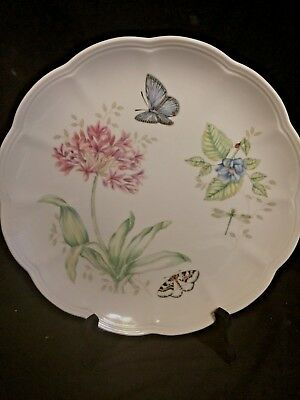 Lenox Butterfly Meadow Eastern Tailed Blue Dinner Plate, Safely Stored, Mint