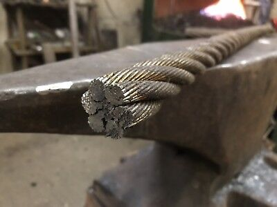 30mm Steel Cable For Bladesmithing Knifemaking Forging