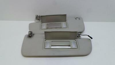 Saab 93 2008 - 2012 Pair Of Left & Right Sunvisors With Mirrors & Clips