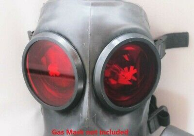Fm12 Gas Mask Lenses Genuine Sas Red Rubber Night Outserts