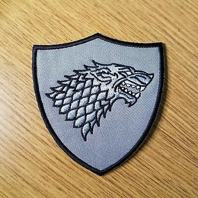 Game of Thrones Stark Gray Shield Patch 3 1/2 inches tall