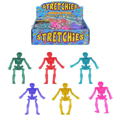 Stretchy Skeletons  Party Bag Filler Colour Toys Jelly Stretchy Rubber 1-100