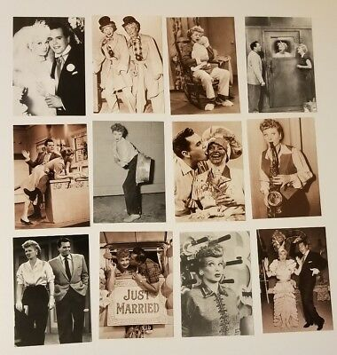 """Lot of 12 Vintage Lucille Ball I Love Lucy Postcards 4"""" X 6"""" NEW"""