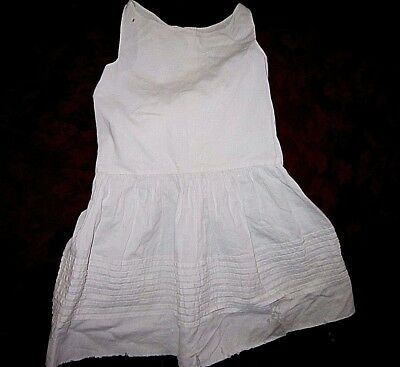 Victorian Vintage baby/toddler Girls White Slip - shoulder to shoulder 8 inches