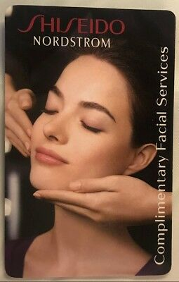 Shiseido Complimentary Facial Services Gift Card Certificate Nordstrom