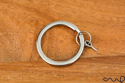 5 xSplit Keyring Blanks 30mm Flat Split Rings Round Jump Loop Eyelet Screw Metal
