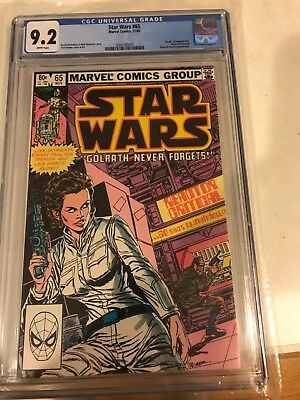 "Star Wars 65 CGC 9.2 Marvel comics 1982 WP ""Death"" of Admiral Giel"