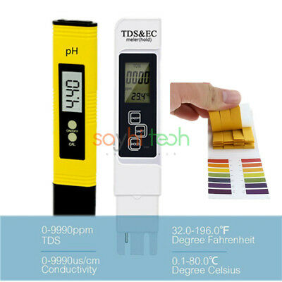 Digital PH TDS EC Meter Tester LCD Pen Monitor Aquarium Pool Water Test Paper