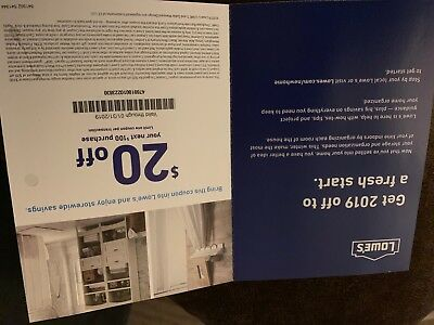 Lowes coupon $20 dollar off $100