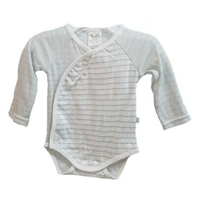Max and Tilly Preemie Long Sleeve Bodysuit - Grey Stripe