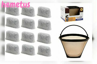 GoldTone Brand 8-12 Cup Coffee Filter & Set of 12 Charcoal Water Filters...