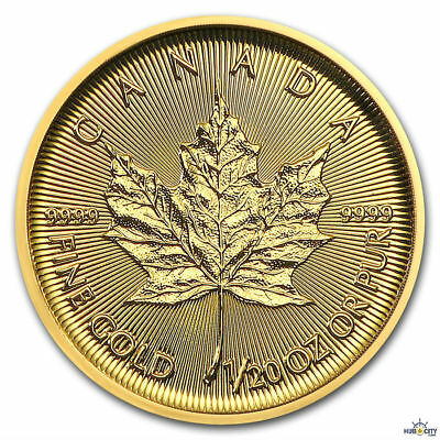 2018 1/20oz Gold Canadian Maple Leaf $1 BU .9999 Fine Gold Coin