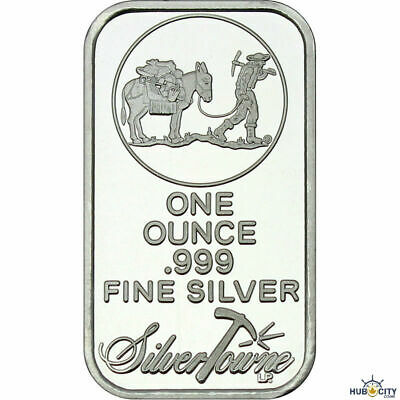 SilverTowne 1oz Prospector Trademark .999 Fine Silver Bar Sealed