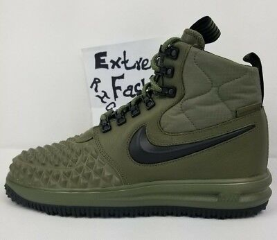 e55e4f0397a6e New Nike Lunar Air Force 1 Duckboot 17 Olive Green Mens Size 8.5 LF1 916682  202