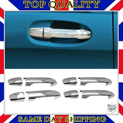 4x Chrome Door Handle S.STEEL for Mercedes W907 Sprinter 2018 onwards