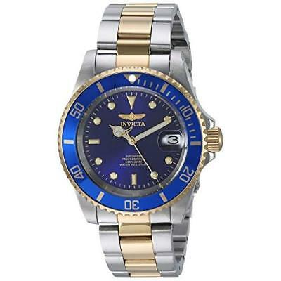 INVICTA Pro Diver Men's Automatic Watch with Blue Dial Analogue Display and Mult