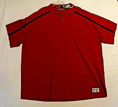 Roundtree   Yorke Varsity Polo Style Red Color Shirt Size  3X BIG MAN 4cac62a91cf9