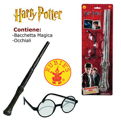 Set Mago Harry Potter Occhiali E Bacchetta Travestimento