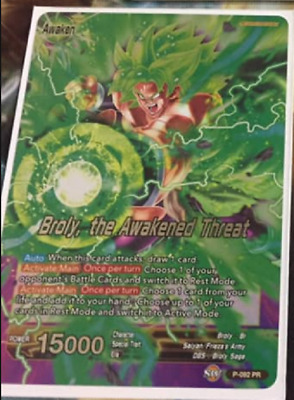 Dragon Ball Super Card Game Broly the Awakened Threat Foil Promo Leader