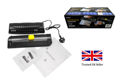 NEW A4 TEXET Hot Laminating Machine kit with free Trimmer & Pouches