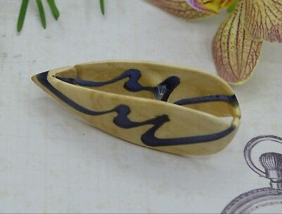 Epoxy Resin Wood Tatting Shuttle Handmade of Linden Wood