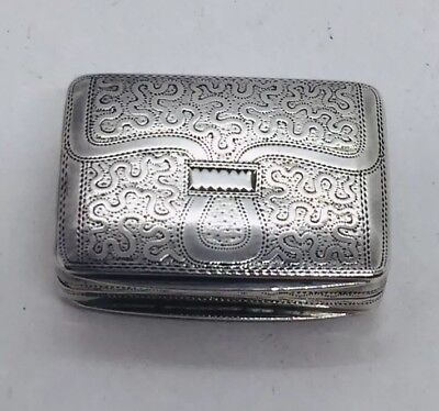 Antique English Georgian Sterling Silver Satchel Briefcase Vinaigrette