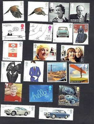 GB First Class Stamps x 20. Mint unused, Full Gum. Face Value £13.40