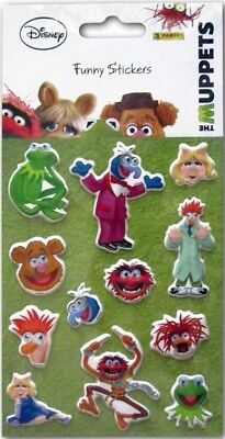 Disney's The Muppets 12 Funny Stickers With Moving Eyes - Panini Sealed Card New