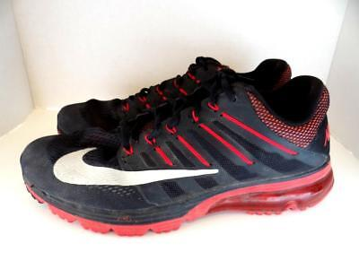 726ca9b36e0db Nike Air Max Excellerate 4 Men s Running Shoes Black Red 806770-066 Size 12