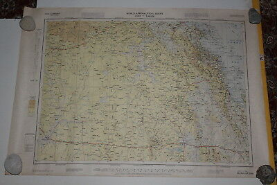 Vintage Clermont Aeronautical Map 53.5cmx76cm Chaters Towers Mackay Emerald Qld