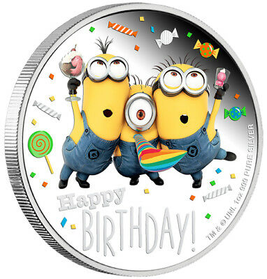 2019 MINION MADE – Happy Birthday 1oz Silver Proof Coin