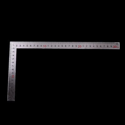Stainless Steel 15x30cm 90 Degree Angle Metric Try Mitre Square Ruler Scale HS