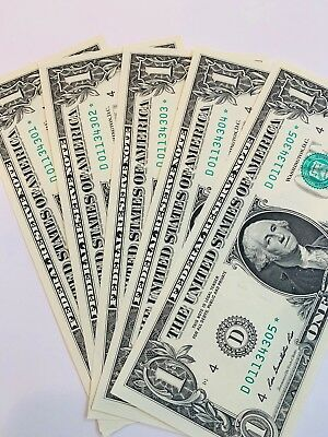 (10) 2013 D Consecutive Uncirculated 2013 Star Notes. Brilliant Condition.