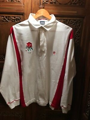 Serge Blanco - Quinze - England - 100% Cotton - Rugby Top - (L) - Very Rare