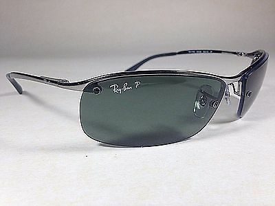 c27b24c2f1 Ray-Ban Tech Polarized Rimless Sunglasses RB3183 Silver Gunmetal New  Authentic