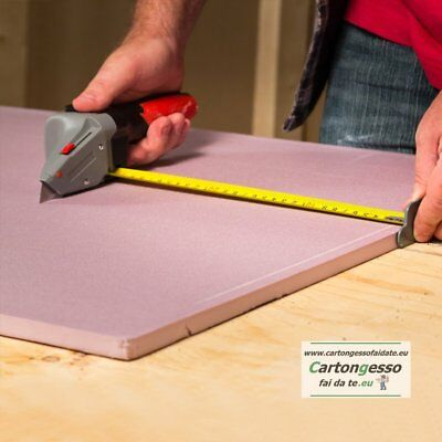 CUTTER SEGNALASTRE CON FLESSOMETRO PER CARTONGESSO - Drywall Axe All-in-one