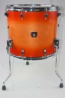 Tama Superstar Classic 14 X 14 Floor Tom Drum Tangerine Laquer