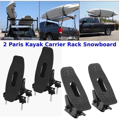 2Pair Saddle Kayak Carrier Rack Top Roof Mount Snowboard Canoe Boat Car Truck TO