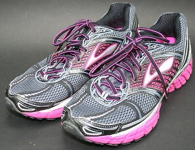 271982081e6 BROOKS TRANCE 12 running shoes women s size 10 black pink silver ...