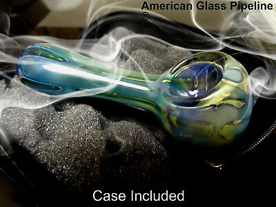 """Waves of the Universe. Quality Glass Hand Tobacco Pipe. 5"""" +Free Case & Shipping"""