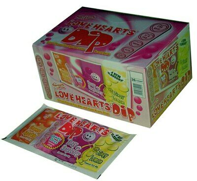Swizzels Love Heart Dips (36pc Display Unit)