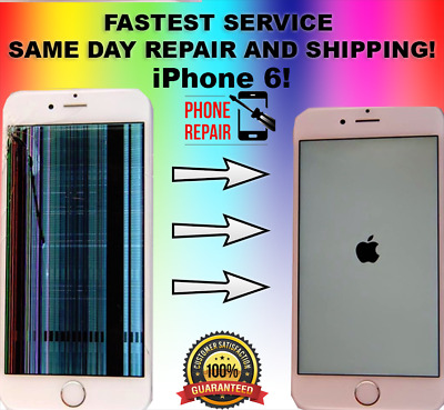 iPhone 6 PLUS Cracked Glass LCD Broken Screen Repair Service DON'T NEED PASSWORD