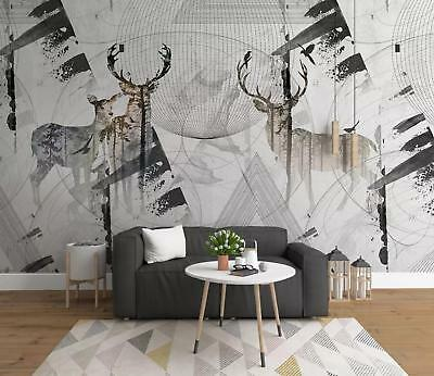 Photo Wallpaper Mural Non-woven 0105444D13 Deer Shadow on Gray Wall