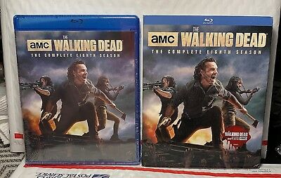 New Walking Dead Season 8 On Blu-Ray! 5 Disc Set! With Slipcover! Factory Sealed
