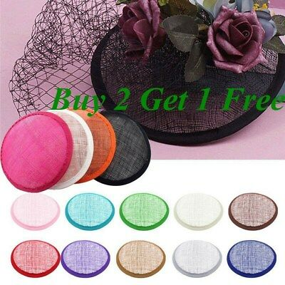 13.5 cm Round Sinamay Fascinator Base Great for Making Fascinators/Party Hats