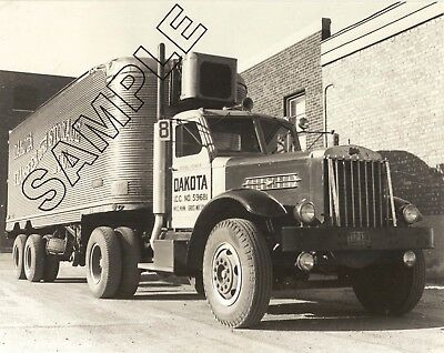 1940s STERLING HC Diesel & FRUEHAUF REEFER, DAKOTA TRANSFER 8x10 Glossy Photo